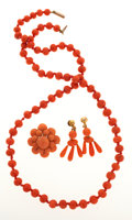 Estate Jewelry:Suites, Coral, Gold Jewelry Suite. ... (Total: 3 Items)
