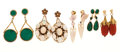 Estate Jewelry:Earrings, Antique Multi-Stone, Gold Earrings. ... (Total: 4 Items)
