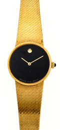 Timepieces:Wristwatch, Movado Lady's 14k Gold Quartz Wristwatch. ...