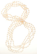 Estate Jewelry:Necklaces, Freshwater Cultured Pearl Necklaces. ... (Total: 2 Items)