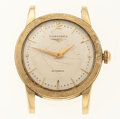 Timepieces:Wristwatch, Longines 14k Gold Automatic Wristwatch. ...