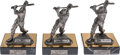 "Baseball Collectibles:Hartland Statues, Circa 1990 Stan Musial Signed ""The Legend Lives"" Pewter Statues Lotof 3...."