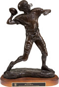 Football Collectibles:Others, 1984 Roger Staubach Bronze Statue Presented to Voice of the Cowboys Murphy Martin....