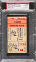 "Baseball Collectibles:Tickets, 1954 World Series Game One Ticket Stub, Willie Mays Makes ""TheCatch.""..."