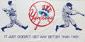 Baseball Collectibles:Others, 1990's Joe DiMaggio Oversized New York Yankees Banner....