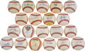 Autographs:Baseballs, 2000's Perfect Game Pitchers Single Signed Baseballs Lot of 20....