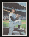 Autographs:Others, 1990's Mickey Mantle Signed Oversized Lithograph from Mantle'sRestaurant....