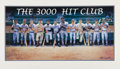 Autographs:Others, Circa 1996 Hank Aaron, Stan Musial, Willie Mays & Others SignedOversized Ron Lewis Lithograph....