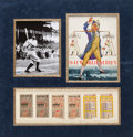 Autographs:Others, 1941 Babe Ruth Signed World Series Program Display with Ticket Stubs (6)....