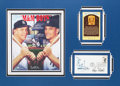 Baseball Collectibles:Others, 1980's Roger Maris and Mickey Mantle Signed Display....
