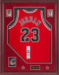 Basketball Collectibles:Uniforms, 1992-93 Michael Jordan Signed Chicago Bulls Jersey....