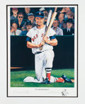 Baseball Collectibles:Others, 1990's Ted Williams Signed Lithograph....