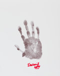 Autographs:Others, Circa 2010 Stan Musial Signed Hand Print....