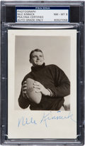 Football Collectibles:Photos, Circa 1939 Nile Kinnick Signed Real Photograph Postcard, PSA/DNA NM-MT 8....