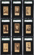 Baseball Cards:Lots, 1887 N172 Old Judge Baseball SGC Graded Collection (9). ...