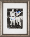 Baseball Collectibles:Photos, 1990's Mickey Mantle & Willie Mays Signed Photograph &Mantle Signed Hall of Fame Photograph. ...