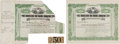 Baseball Collectibles:Others, 1903 New York Highlanders/Yankees Stock Certificates Lot of 2 withTicket Stub....