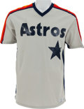 Baseball Collectibles:Uniforms, 1980 J.R. Richard Game Worn Houston Astros Jersey....