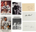 Autographs:Celebrities, Apollo Astronauts: Collection of Seven Signed Items.... (Total: 10 Items)