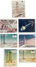 Explorers:Space Exploration, NASA Saturn V Concept Drawing Photos, Group of Seven, 1963-1968....(Total: 7 Items)