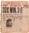 Baseball Collectibles:Publications, 1919-21 Chicago Black Sox/White Sox Bound Newspaper Collection. ...