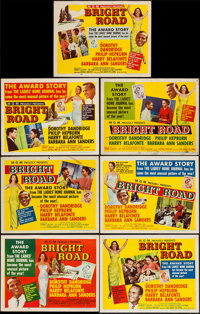 "Bright Road (MGM, 1953). Title Lobby Card & Lobby Cards (6) (11"" X 14""). Black Films. ... (Total: 7 It..."