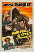 """Movie Posters:Western, Partners of the Sunset (Monogram, 1948). One Sheet (27"""" X 41""""). Western.. ..."""