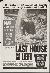 """The Last House on the Left (Sean S. Cunningham Films, 1972). One Sheet (27"""" X 40""""). Horror"""