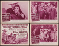 "Movie Posters:Serial, The Valley of Vanishing Men (Columbia, 1942). Lobby Card Set of 4 (11"" X 14"") Chapter 6 -- ""The Bottomless Well."" Serial.. ... (Total: 4 Items)"