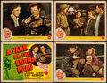 "Movie Posters:War, A Yank on the Burma Road (MGM, 1942). Title Lobby Card & LobbyCards (3) (11"" X 14""). War.. ... (Total: 4 Items)"