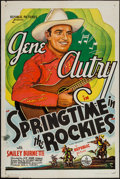 "Movie Posters:Western, Springtime in the Rockies (Republic, R-1940s). One Sheet (27"" X 41""). Western.. ..."