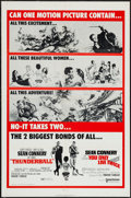 """Movie Posters:James Bond, Thunderball/You Only Live Twice Combo (United Artists, R-1971). One Sheet (27"""" X 41""""). James Bond.. ..."""