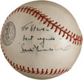 Autographs:Baseballs, 1940's Hank Greenberg Single Signed Baseball....