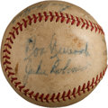 Autographs:Baseballs, 1950 Brooklyn Dodgers African-American Stars Signed Baseball withRobinson, Campanella....