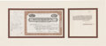 Autographs:Others, 1946 Kansas City Blues Stock Certificate Issued to New YorkYankees....
