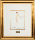 Miscellaneous Collectibles:General, 1971 Arthur Ashe Original Artwork by LeRoy Neiman....