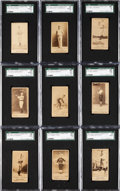Baseball Cards:Lots, 1887 N172 Old Judge Baseball SGC Graded Collection (9) WithPhoto/Copy Variation. ...