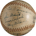 Autographs:Baseballs, 1944 New York Giants Team Signed Baseball....