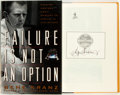 Books:Americana & American History, Gene Kranz. SIGNED. Failure is Not an Option. Mission ControlFrom Mercury to Apollo 13 and Beyond. Simon & Schu...