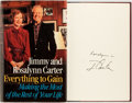 Books:Americana & American History, Jimmy and Rosalynn Carter. SIGNED. Everything to Gain. Makingthe Most of the Rest of Your Life. Random House, F...