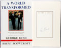 Books:Americana & American History, George Bush and Brent Scowcroft. SIGNED. A World Transformed. Alfred A. Knopf, 1998. First edition. Signed by ...