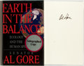 Books:Americana & American History, Al Gore. SIGNED. Earth in Balance. Ecology and the HumanSpirit. Houghton Mifflin Company, Second edition. Sig...