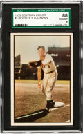 Baseball Cards:Singles (1950-1959), 1953 Bowman Color Whitey Lockman #128 SGC 88 NM/MT 8 - Pop Two,None Higher! ...