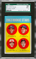 Baseball Cards:Singles (1960-1969), 1963 Topps Pete Rose 1963 Rookie Stars #537 SGC 96 Mint 9....