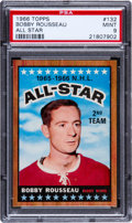 Hockey Cards:Singles (1960-1969), 1966 Topps Bobby Rousseau All Star #132 PSA Mint 9 - Last In Set - The Best PSA Has to Offer! ...