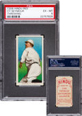 Baseball Cards:Singles (Pre-1930), 1909-11 T206 Hindu (Red) Cy Seymour, Throwing PSA EX-MT 6 - FinestPSA Known! ...