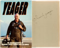Books:Biography & Memoir, General Chuck Yeager and Leo Janos. SIGNED. Yeager: An Autobiography. Bantam Books, 1985. Signed by Yeager on ...