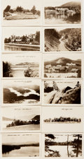 """Books:Americana & American History, Lot of 12 Miniature Black and White Photographs of Lake Placid, NewYork, Circa 1900. 2.75"""" x 1.75"""", in the original tattere..."""