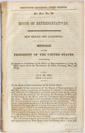 Books:Americana & American History, [James K. Polk]. Thirtieth Congress, First Session Ex. Doc. No.70. House of Representatives. New Mexico and California....