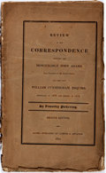 Books:Americana & American History, [John Adams]. Review of the Correspondence Between the Hon. JohnAdams, Late President of the United States, and the Lat...